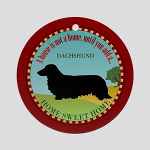 Dachshund [long-haired] Ornament (Round)